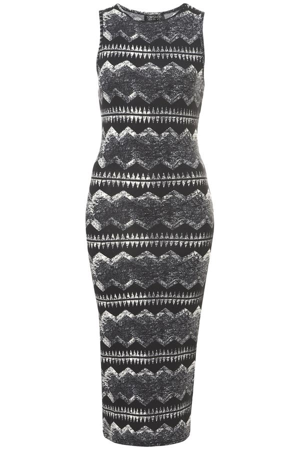 Main Image - Topshop 'Yama' Print Midi Tank Dress