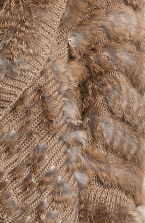 Alternate Image 3  - Alberto Makali Knit & Genuine Rabbit Fur Shrug