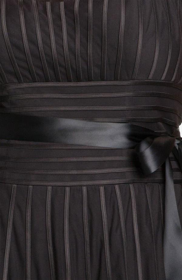 Alternate Image 3  - JS Collections Ribbon Trim Mesh Sweetheart Dress (Plus)