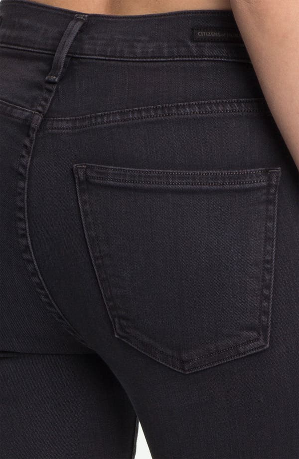 Alternate Image 3  - Citizens of Humanity 'Rocket' High Rise Skinny Jeans (Goth)