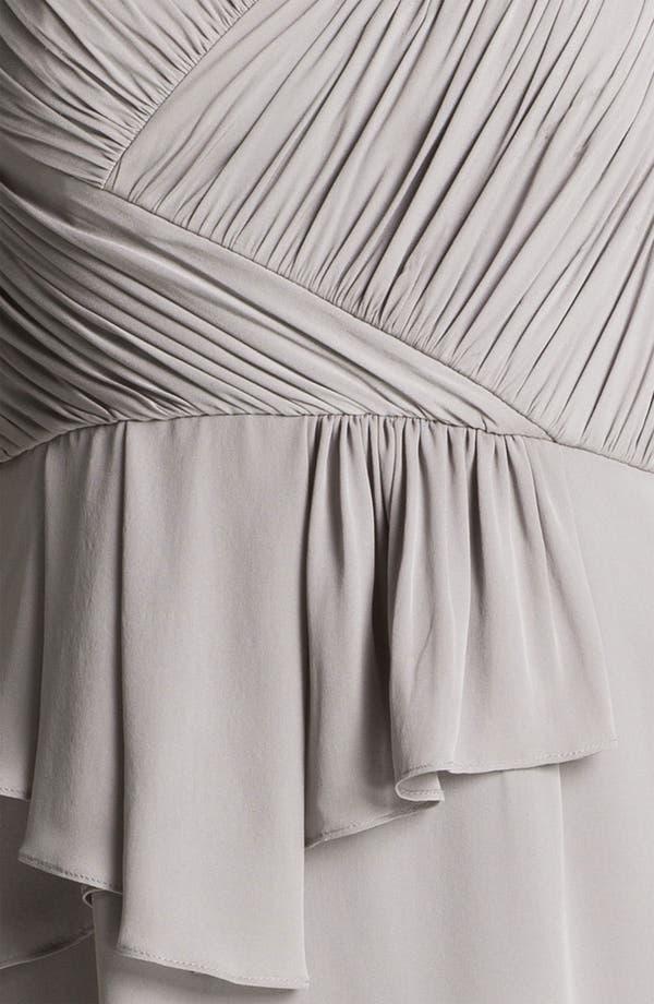 Alternate Image 3  - Donna Morgan Ruched Asymmetrical Peplum Chiffon Dress