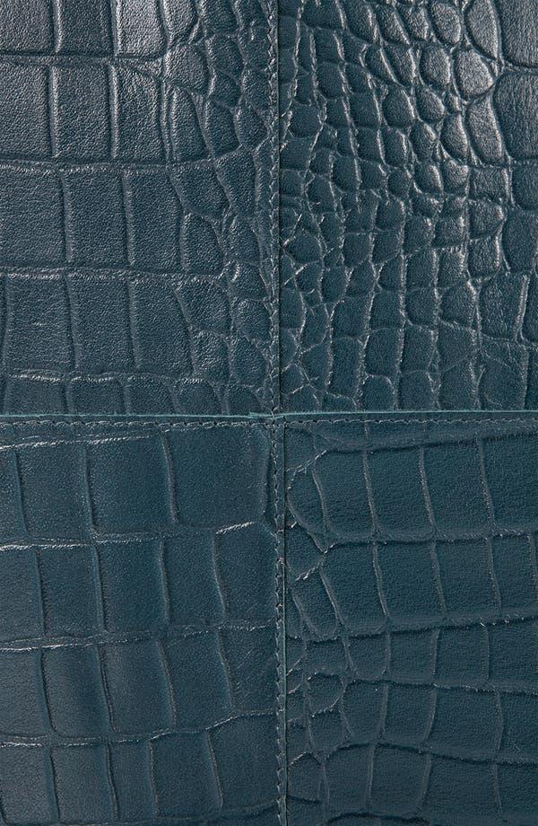 Alternate Image 4  - Topshop 'Lady' Croc Embossed Tote