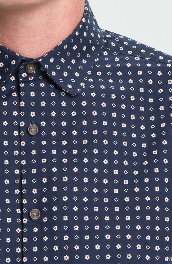 Alternate Image 3  - Topman Floral Print Slim Fit Dress Shirt