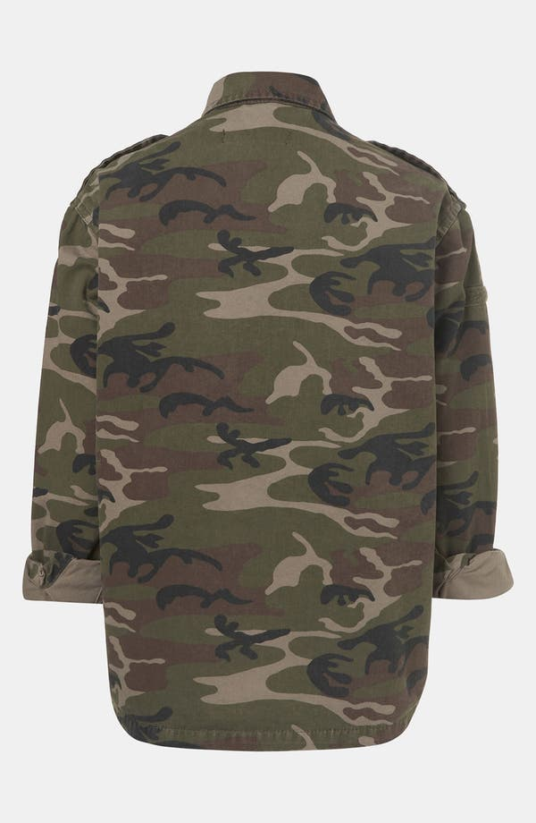 Alternate Image 2  - Topshop Camo Jacket (Petite)