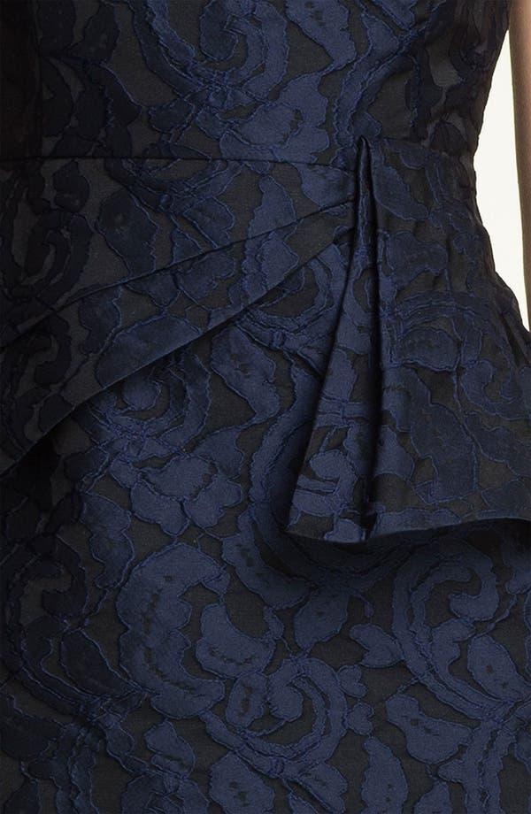 Alternate Image 3  - Adrianna Papell Side Peplum Jacquard Sheath Dress