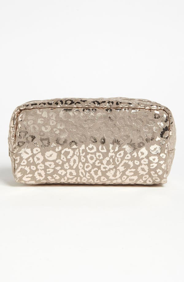 Main Image - BP. Metallic Taupe Leopard Print Pouch