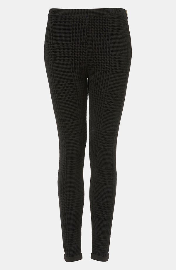 Main Image - Topshop Flocked Houndstooth Leggings