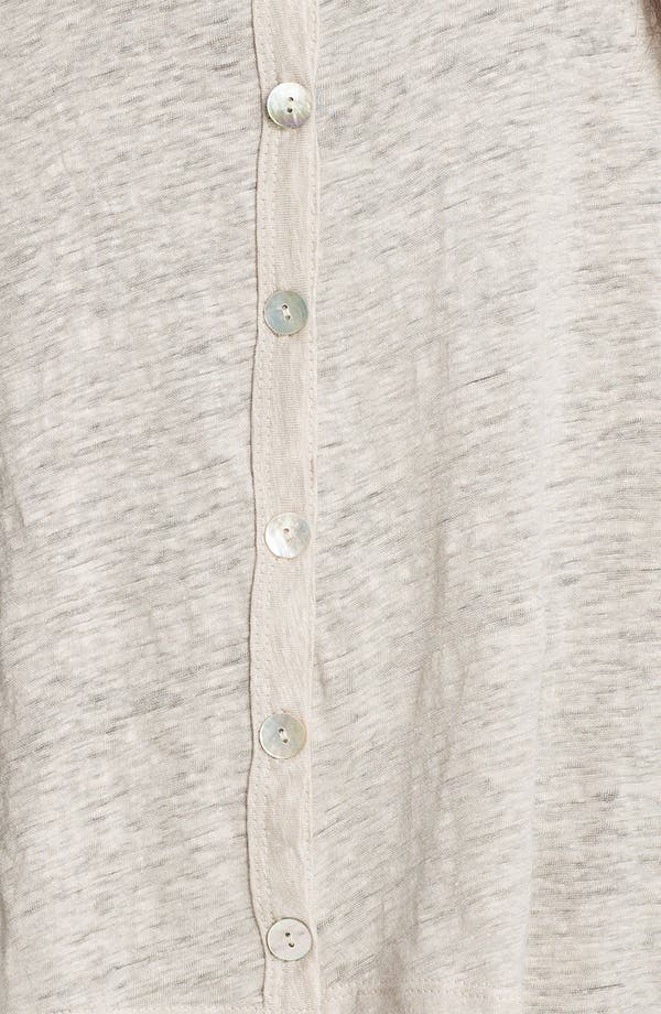Alternate Image 3  - Chalet 'Lexi' Drop Shoulder Linen Cardigan (Plus)