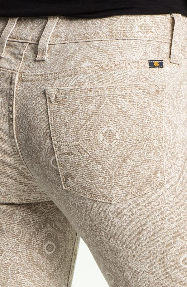 Alternate Image 3  - Lucky Brand 'Charlie' Print Skinny Jeans (Online Exclusive)