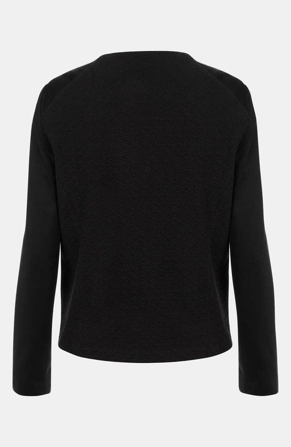 Alternate Image 2  - Topshop Ponte Knit Biker Jacket