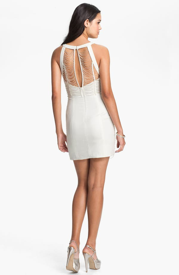 Alternate Image 2  - Keepsake the Label 'Full Time Believer' Beaded Sheath Dress