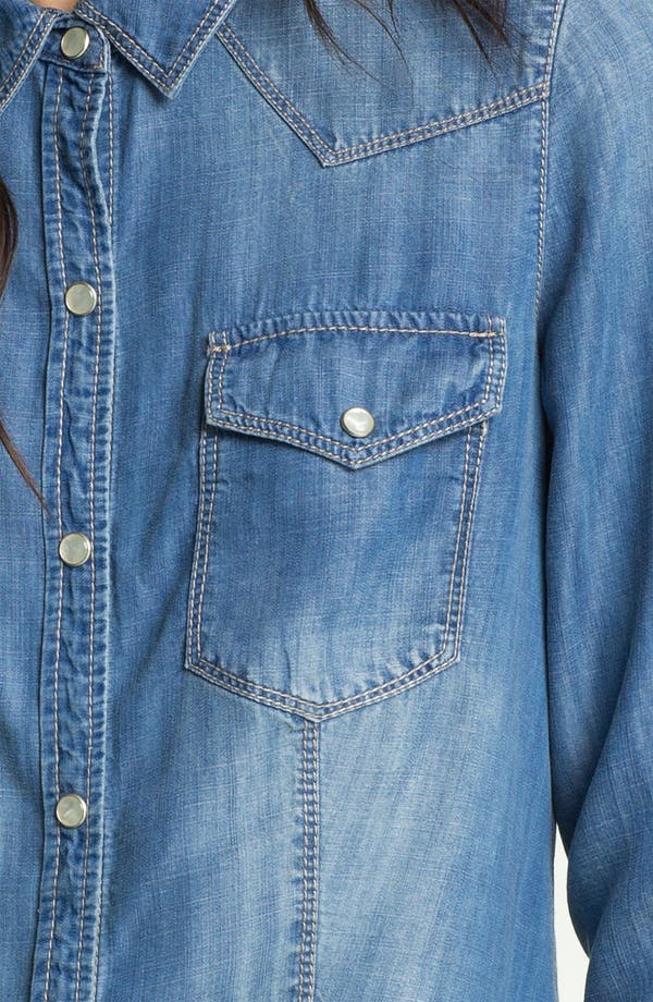 Alternate Image 3  - Trouvé Flap Pocket Denim Shirt