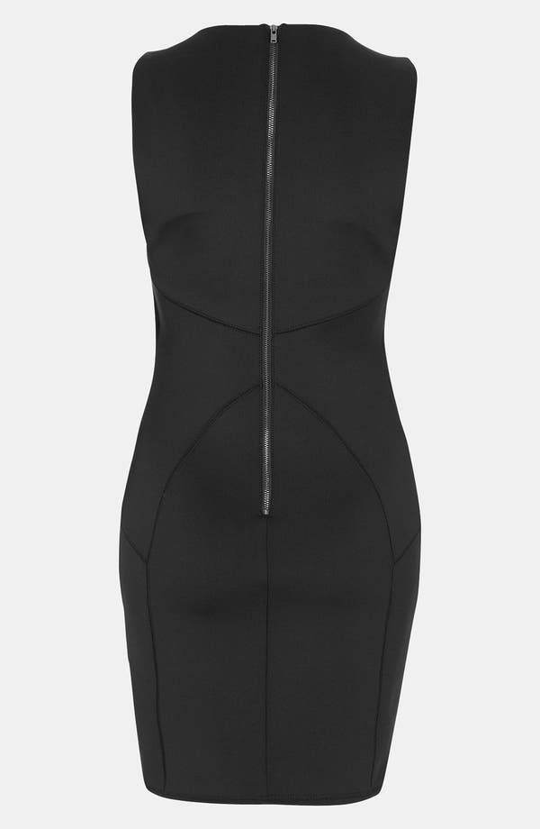 Alternate Image 2  - Topshop Seamed Body-Con Dress