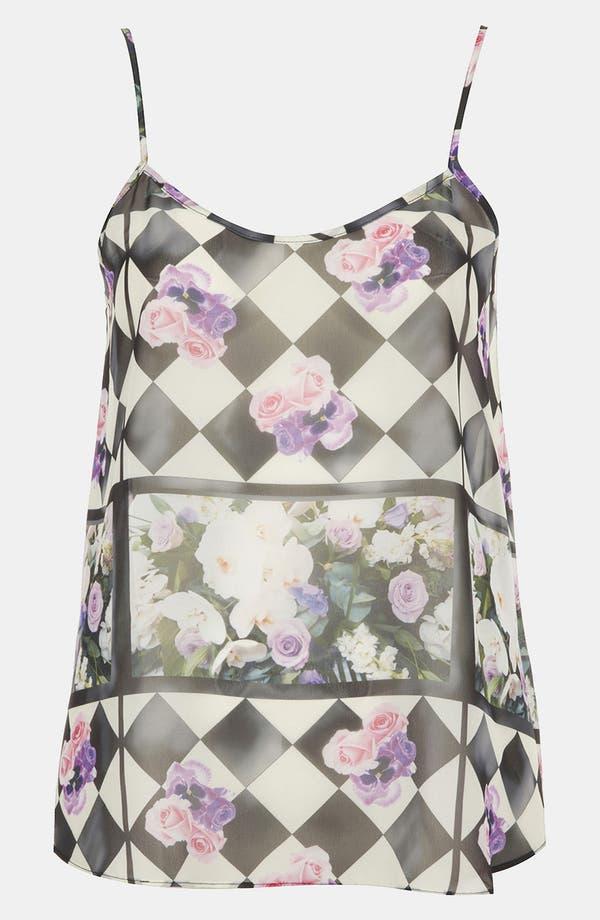 Alternate Image 1 Selected - Topshop 'Floral Chalkboard' Print Camisole