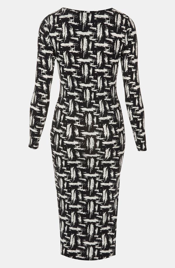 Alternate Image 2  - Topshop Scratch Graffiti Midi Dress