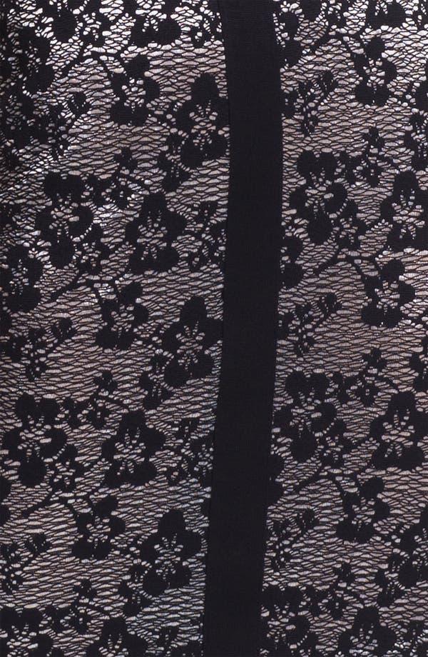 Alternate Image 3  - Exclusively Misook 'Eliza' Lace Front Dress (Petite)