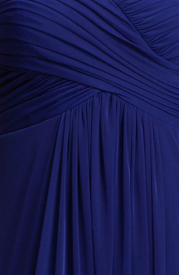 Alternate Image 3  - Xscape Lace Cap Sleeve Mesh Gown (Plus)