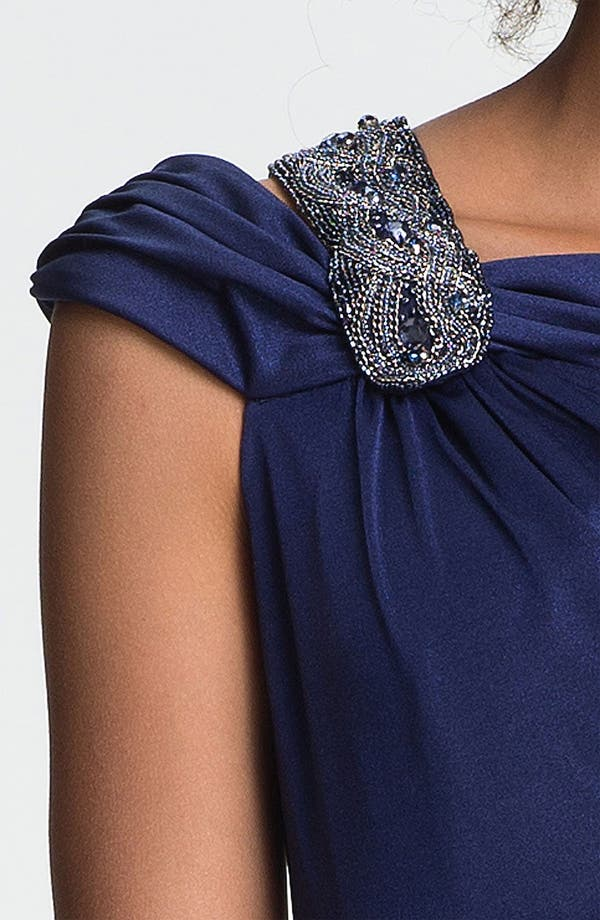 Alternate Image 3  - David Meister Embellished Off Shoulder Gown