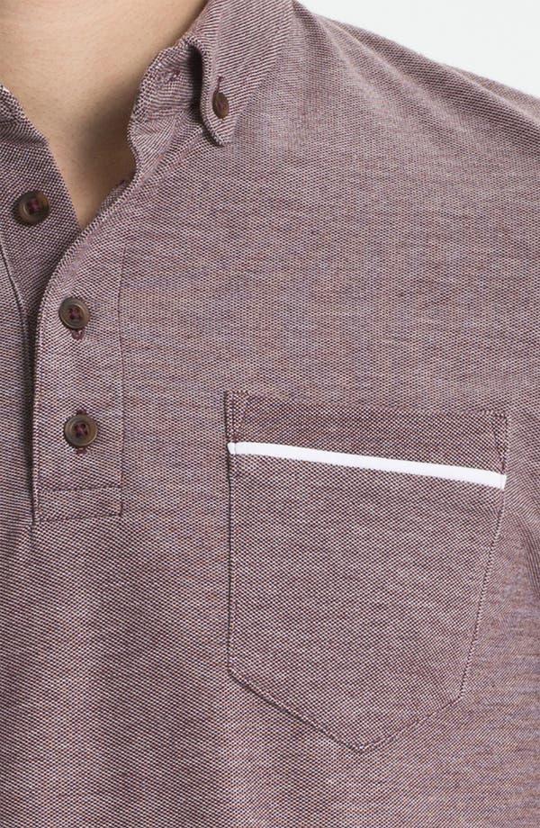 Alternate Image 3  - Topman Contrast Piqué Polo