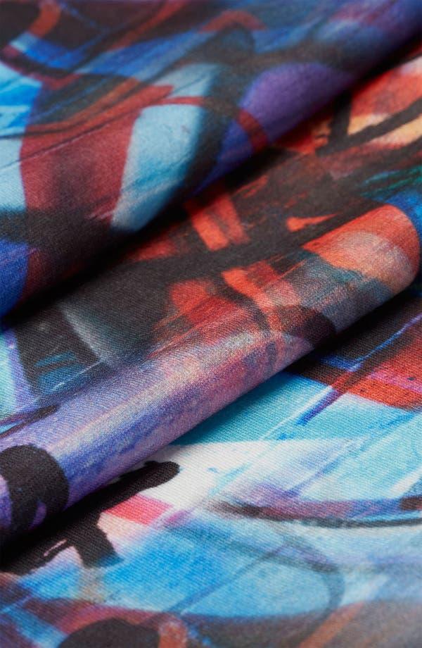 Alternate Image 3  - Topshop 'Graffiti' Print Midi Skirt