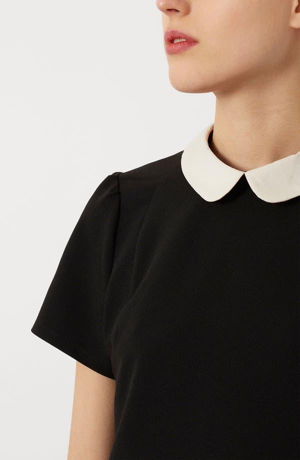 Alternate Image 4  - Topshop Contrast Collar Shift Dress