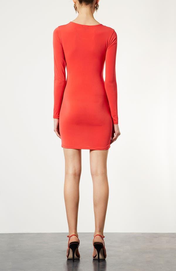 Alternate Image 2  - Topshop Wrap Panel Body-Con Dress