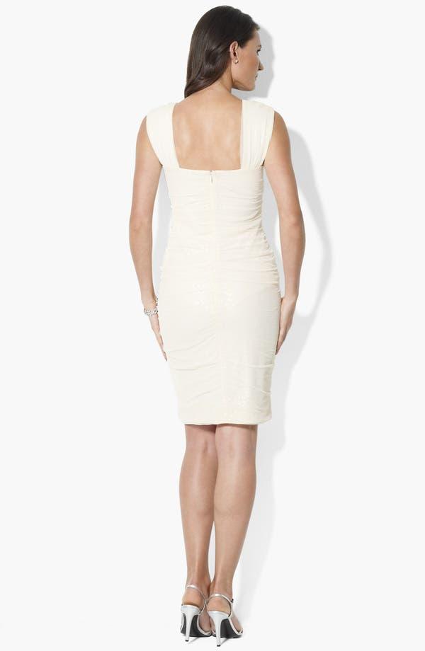 Alternate Image 2  - Lauren Ralph Lauren Sequin Mesh Sheath Dress