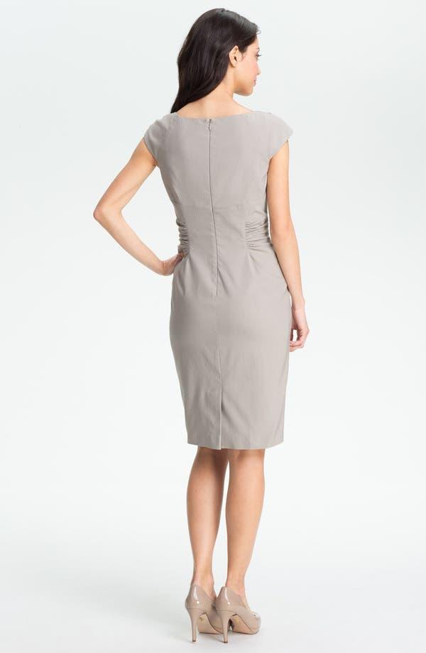Alternate Image 4  - Adrianna Papell Embellished Ruched Sheath Dress (Petite)
