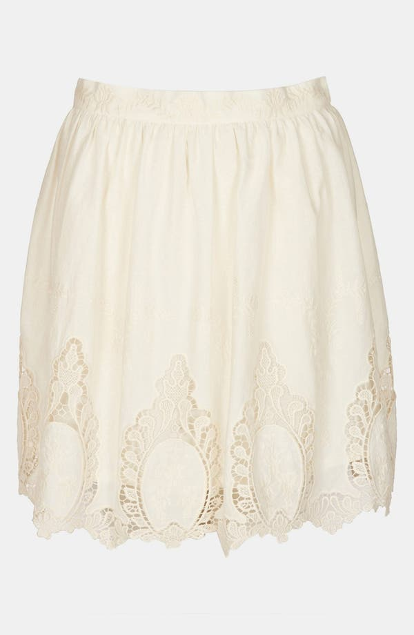 Alternate Image 1 Selected - Topshop Doily Lace Skirt