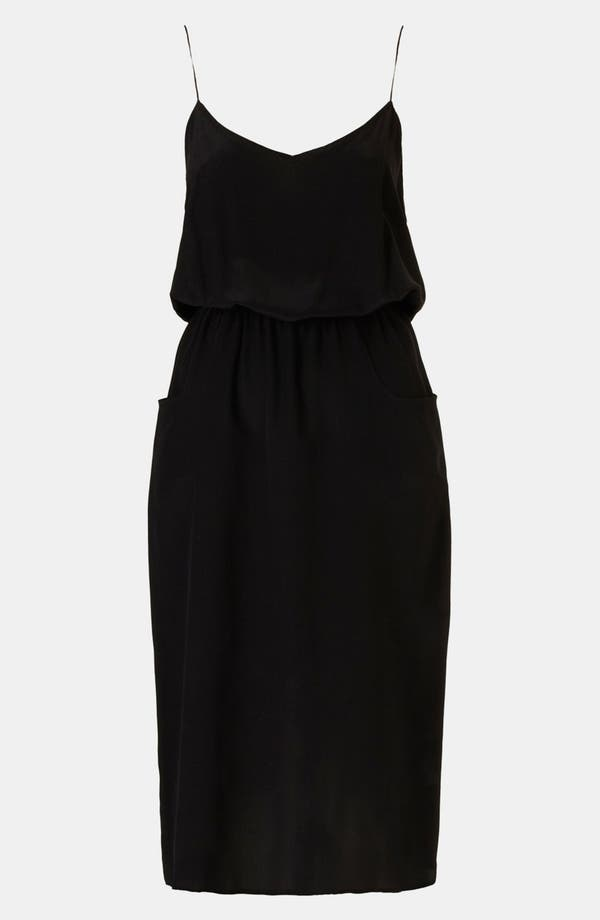Alternate Image 1 Selected - Topshop Boutique 'Linda' Silk Blouson Dress