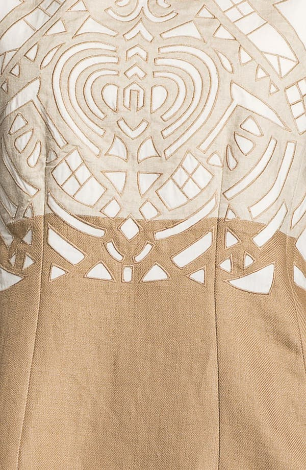 Alternate Image 3  - Lafayette 148 New York 'Lavish Linen' Embellished Dress