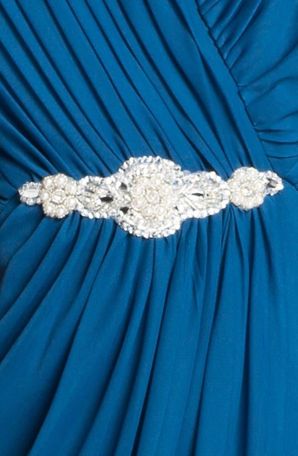 Alternate Image 3  - Alex Evenings Embellished Mesh Gown & Shawl (Plus Size)