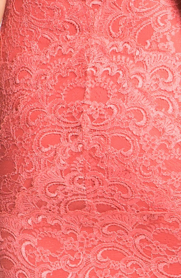 Alternate Image 3  - Nicole Miller Lace Fitted Cap Sleeve Lace Sheath Dress