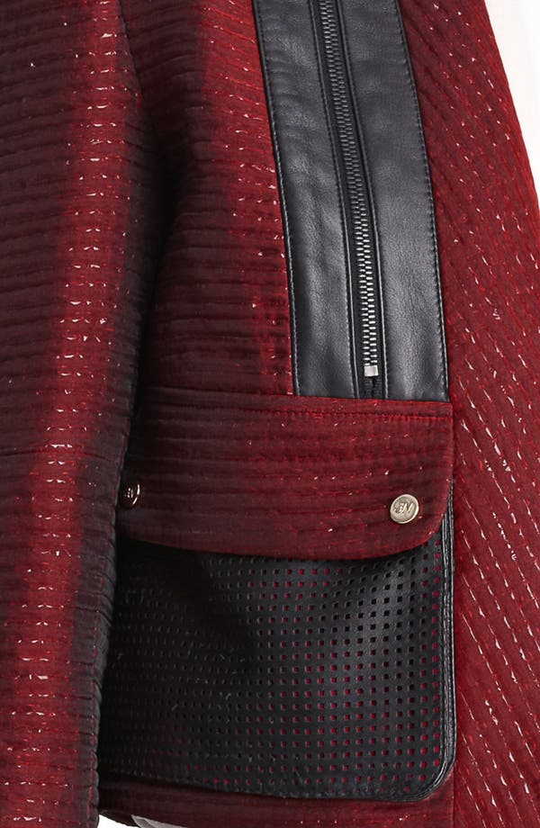 Alternate Image 3  - Jason Wu Organza Tweed & Leather Crop Jacket
