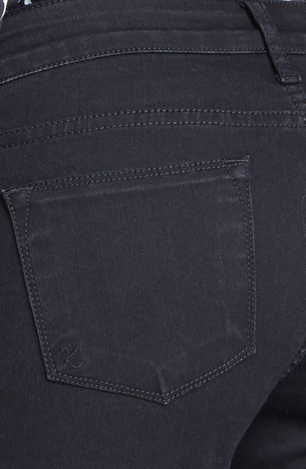 Alternate Image 3  - KUT from the Kloth Farrah' Mini Bootcut Jeans (Black)