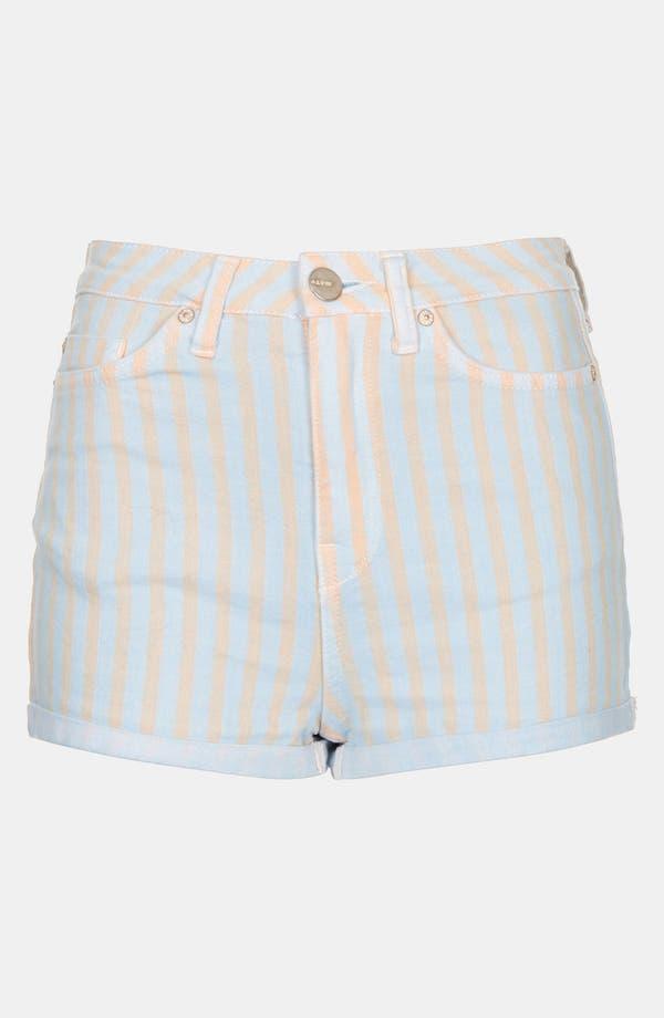 Alternate Image 3  - Topshop Moto 'Poppy' Overdyed Stripe Shorts