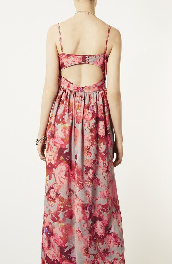 Alternate Image 2  - Topshop 'Blur' Floral Maxi Dress