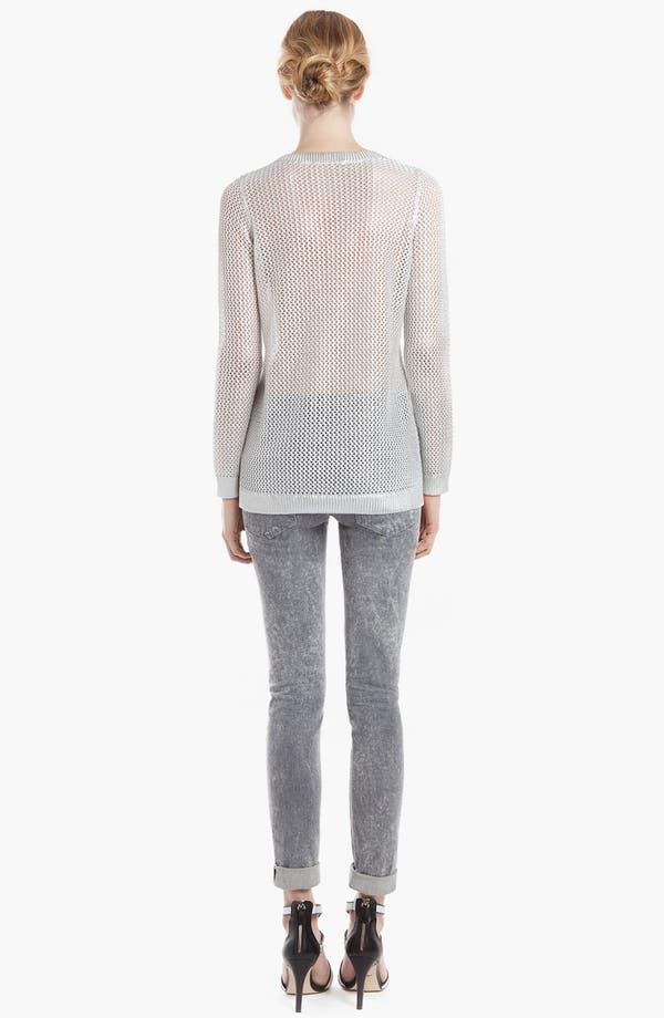 Alternate Image 2  - sandro 'Star Silver' Sheer Sweater