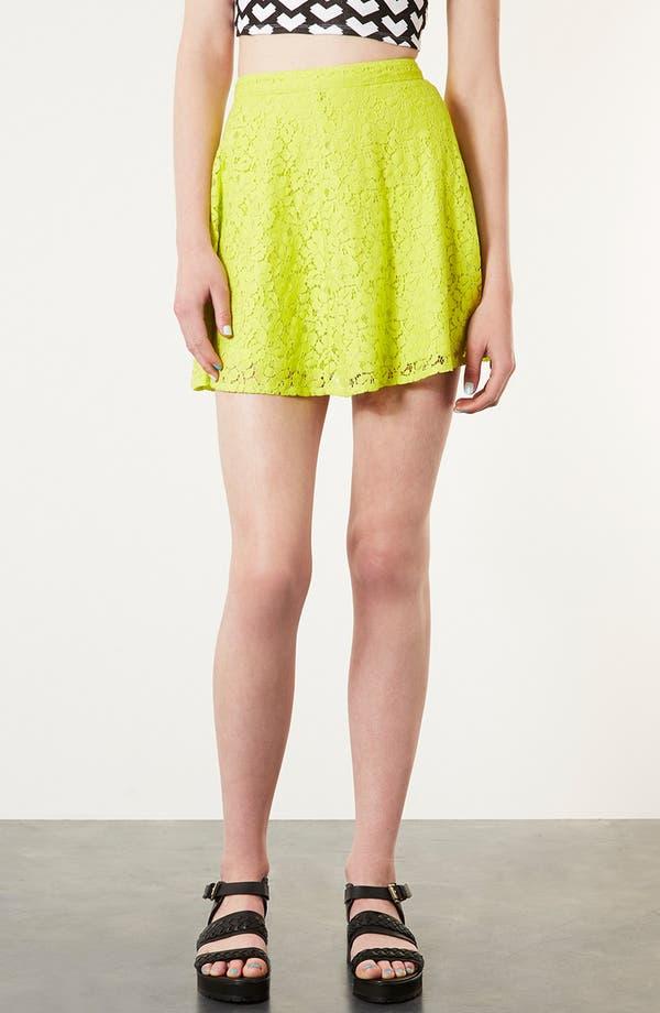 Alternate Image 1 Selected - Topshop Lace Skater Skirt
