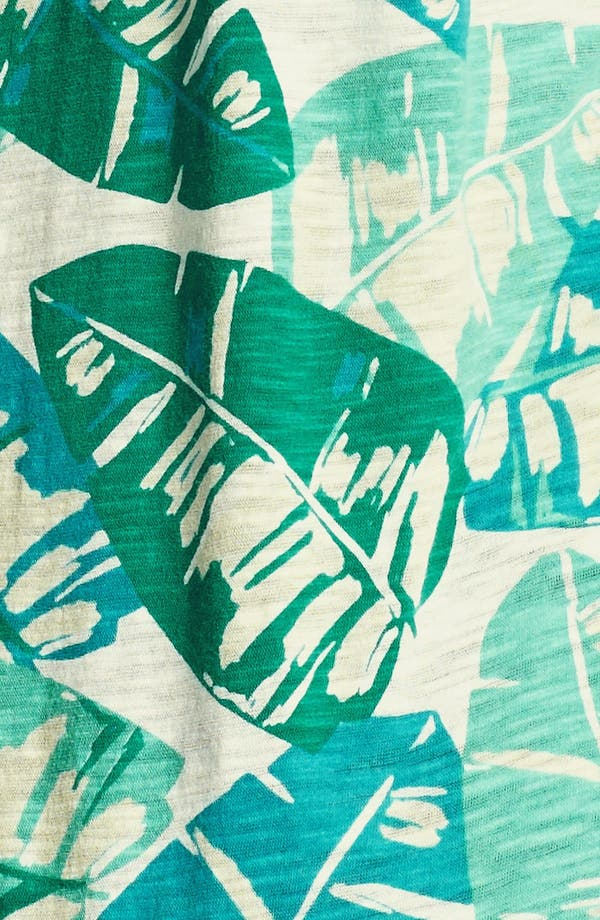 Alternate Image 3  - Lucky Brand 'Kaylee' Palm Print Top (Plus Size)