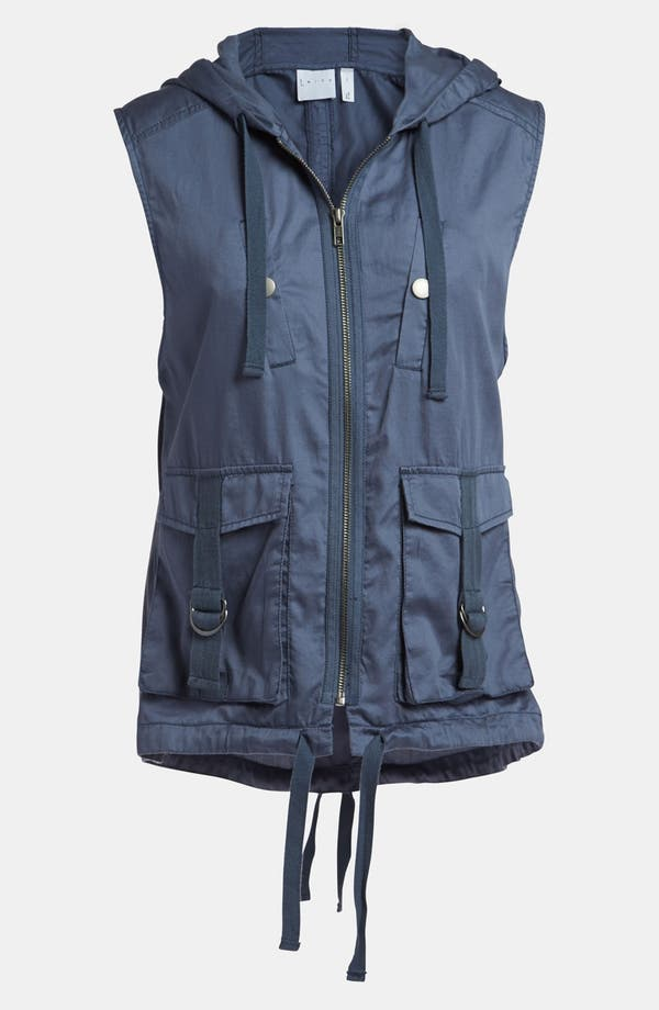 Main Image - Leith 'Parka' Sleeveless Tab Hooded Vest