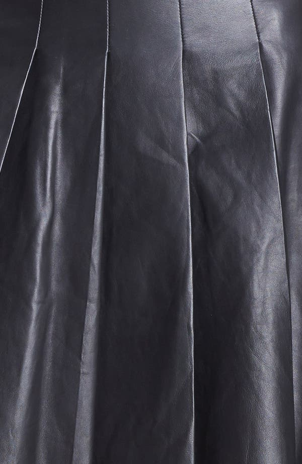 Alternate Image 4  - Miss Wu Pleated Leather Skirt (Nordstrom Exclusive)