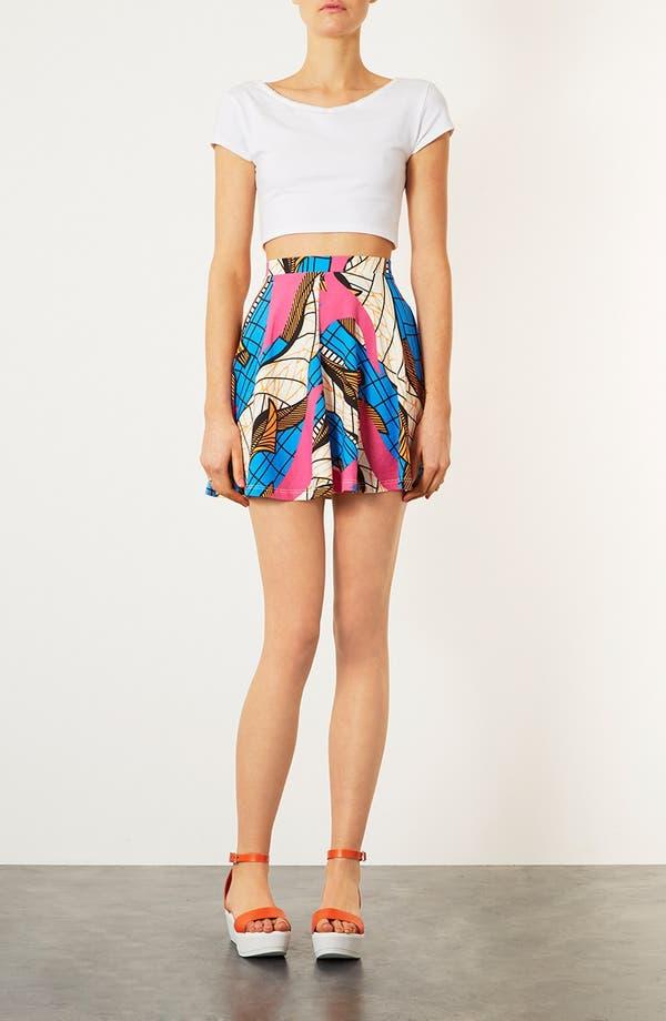 Alternate Image 4  - Topshop Fluorescent Print Skater Skirt