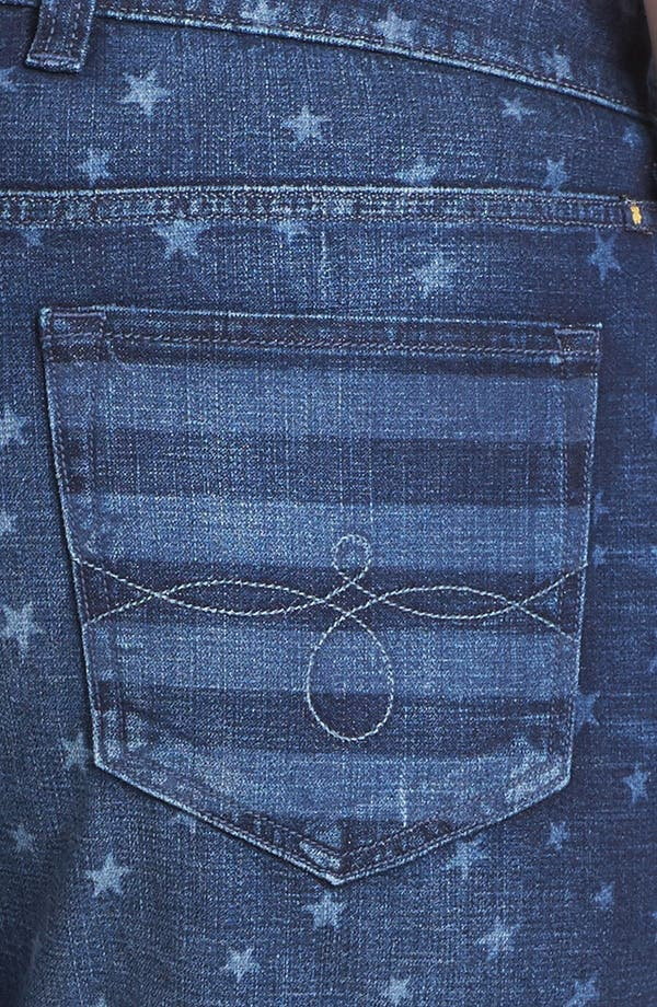 Alternate Image 3  - Lucky Brand 'Americana' Denim Shorts (Plus Size)