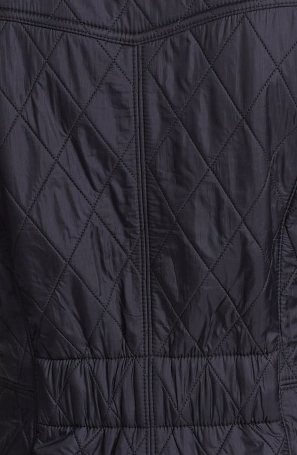 'Cavalry' Quilted Jacket,                             Alternate thumbnail 3, color,                             Black