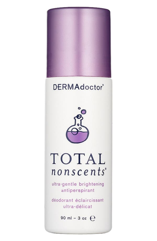 DERMAdoctor 'Total Nonscents<sup>™</sup>' Ultra-Gentle Brightening Antiperspirant,                             Main thumbnail 1, color,                             No Color