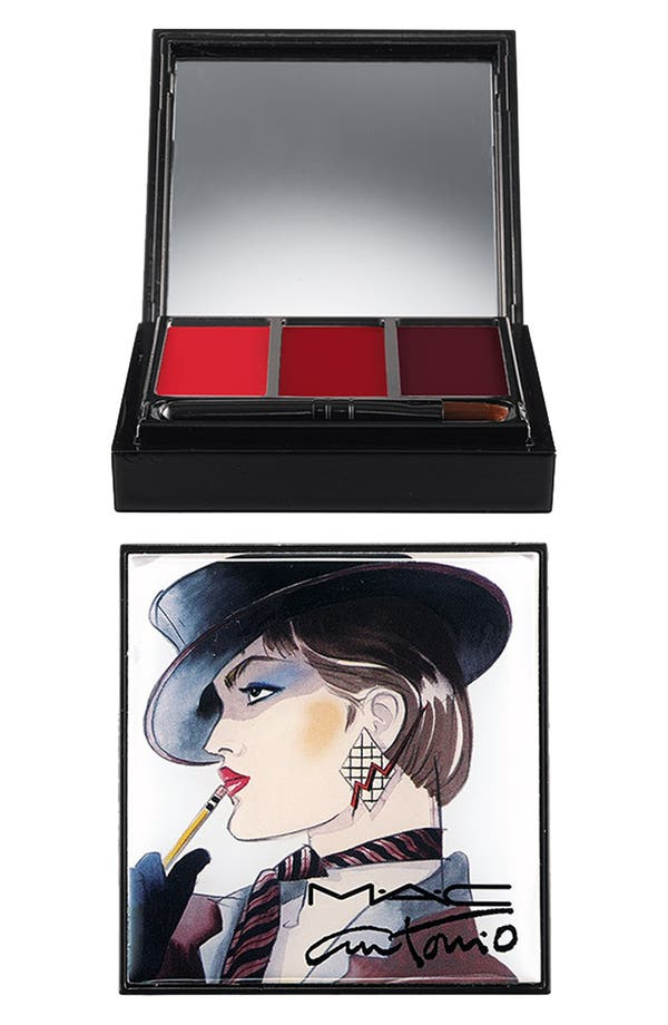 Alternate Image 1 Selected - Antonio Lopez for M·A·C '3 Color - Red' Lip Palette (Limited Edition)