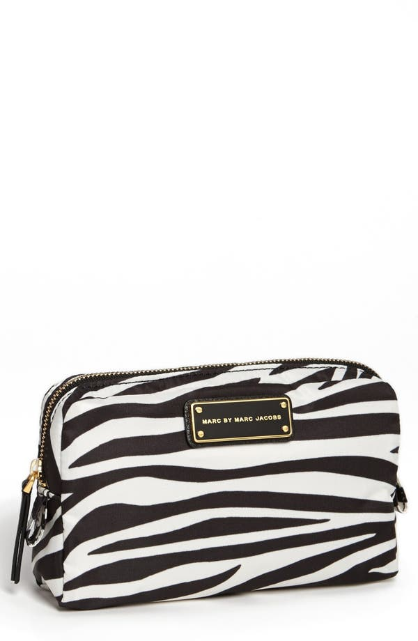 Alternate Image 1 Selected - MARC BY MARC JACOBS Zebra Print Cosmetics Case
