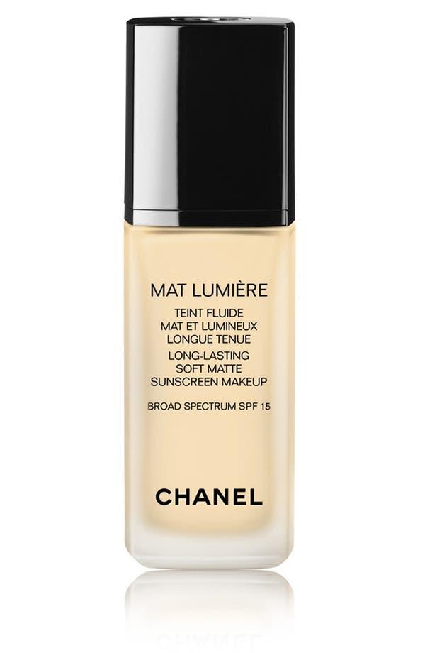 MAT LUMIÈRE<br />Long-Lasting Soft Matte Sunscreen Makeup Broad Spectrum SPF 15,                         Main,                         color, 020 Clair