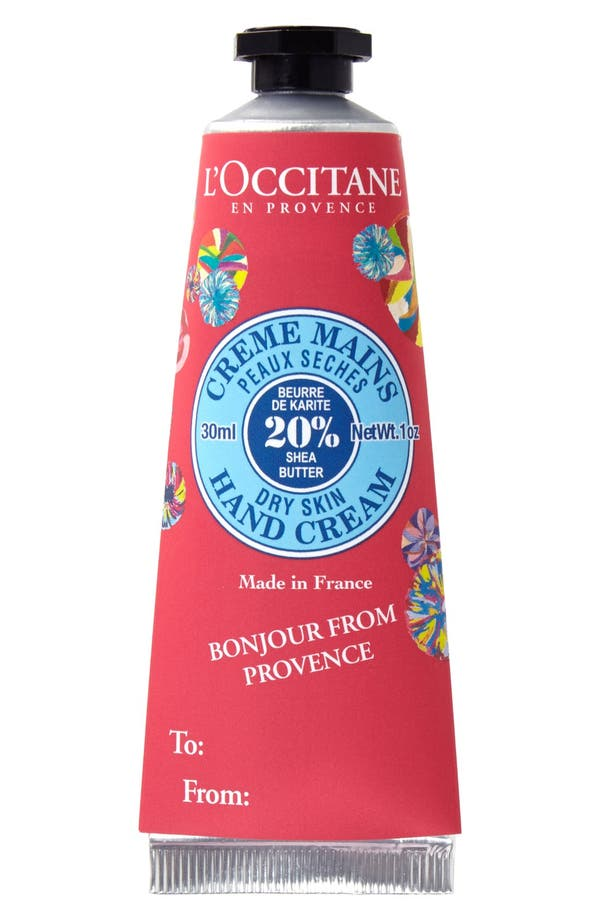 Alternate Image 1 Selected - L'Occitane Shea Butter Hand Cream with Removable Sleeve (1 oz.) (Limited Edition)